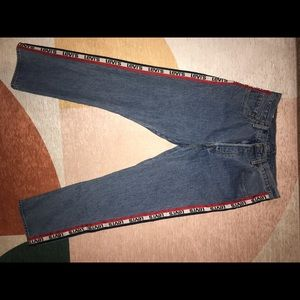 Women's Levi's Jeans 501 with red stripe
